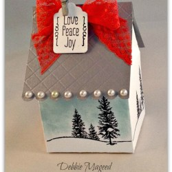 By Debbie Mageed, Happy Scenes, A Little Something, Baker's Box, Holiday, Gift Box, Stampin Up