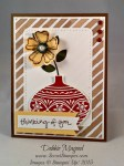 By Debbie Mageed, Embellishe Ornaments, Sheltering Tree, Crazy about You, Stampin Up