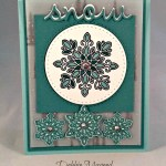 By Debbie Mageed, Flurry of Wishes, Seasonal Frame Thinlits, Stampin Up