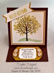 By Debbie Mageed, Sheltering Tree, Cheer All Year, Stampin Up, Easel Card, Fun Fold, Autumn