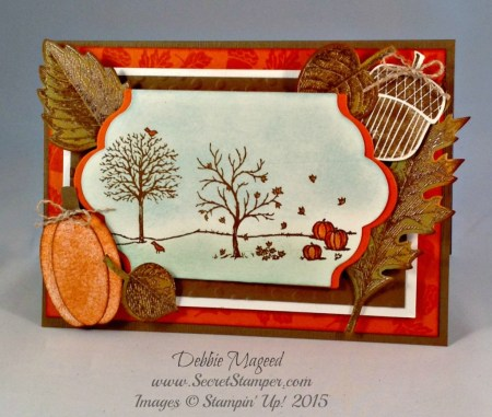 Vintage Leaves, For All Things, Happy Scenes, Acorny Thank You, Autumn, Halloween