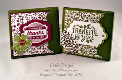 Thankful Forest Friends Made Post It Note Holders
