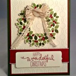 By Debbie Mageed, Wondrous Wreath, Stampin Up