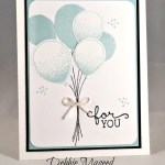 By Debbie Mageed, Balloon Celebration, Birthday Blooms, Stampin Up