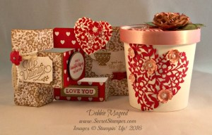 Bloomin' Love, Bloomin' Heart, Merry Everything, Valentine's Day, Tri-Shutter Card Fold, Gift Box