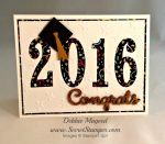 By Debbie Mageed, Large Numbers Framelits, Graduation, It's My Party, Stampin Up
