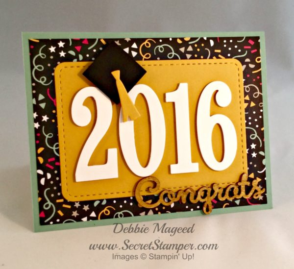 Large Numbers Framelits, Graduation, It's My Party, Stampin Up