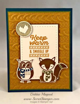 Stampin Up! Cozy Critters are Wrapped in Warmth
