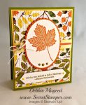 By Debbie Mageed, Magnificent Maple, Full of Blessings, Gratitude for Days, Holidays & Wishes, Thanksgiving, Autumn, Stampin Up