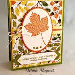Stampin' Up! Magnificent Maple Thanksgiving Card is Full of Blessings