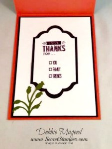 By Debbie Mageed, Mingle All the Way, Gratitude for Days, Thanksgiving, Holiday, Stampin Up