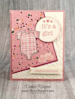 Something for Baby was Made with Love with Stampin' Up! Baby Prints