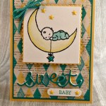 Masculine and Feminine Moon Baby Cards Made with Love