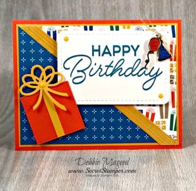 By Debbie Mageed, Birthday Blast, Balloon Adventures, Masculine, Stampin Up