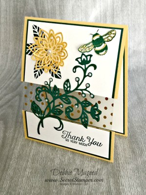 By Debbie Mageed, Flourishing Phrases, Flourishing Thinlits, Stampin Up