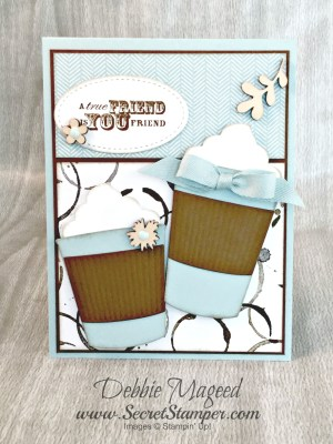 Coffee Cups Framelits for a Friend's Best of Greetings Card