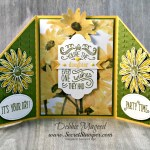 Gate Fold Card Featuring the Delightful Daisy Suite for Sarah
