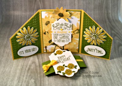 By Debbie Mageed, Happy Birthday Gorgeous, Daisy Delight, Friendly Wishes, Family Reunion, Gate Fold, Stampin Up