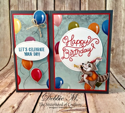 By Debbie Mageed, Birthday Delivery, Birthday Friends Framelits, Fun Fold, Z Fold, Masculine, Boy, Kid, Stampin Up