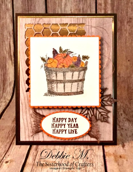 By Debbie Mageed, Basket of Wishes, Seasonal Layers, Autumn, Birthday, Stampin Up