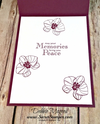 By Debbie Mageed, Climbing Orchid, Thoughts & Prayers, Blessings from Heaven, Sympathy, Stampin Up