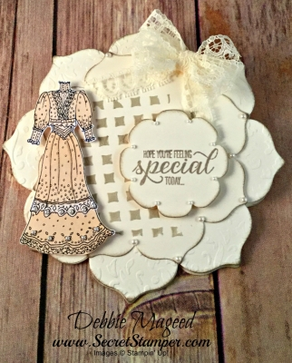 By Debbie Mageed, Garden in Bloom, Fun Fold, Shaped Card, Friendship, Stampin Up