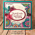 Birthday Blooms and Just Kidding for the Happiest Birthday Card from Stampin' Up!