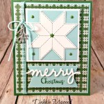 By Debbie Mageed, Christmas Quilt, Quilt Builder Thinlits, Merry Cafe, Holiday, Stampin Up