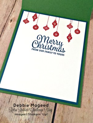 By Debbie Mageed, Very Merry Tags, Snowflake Sentiments, Detailed Santa Thinlits, Christmas, Stampin Up