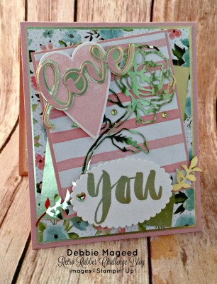 Sure Do Love You and This Botanicals for You Card for Retro Rubber