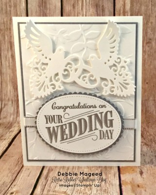 Quick and Easy Wedding Card Using Happy Notes for Retro Rubber