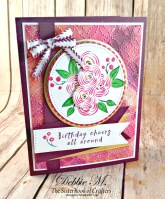Pretty and Pink Perennial Birthday Card for Cardz 4 Galz