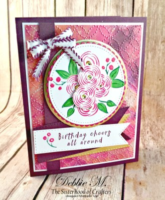 Pretty and Pink Perennial Birthday Card for Cardz 4 Galz