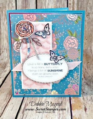 Cake Soiree with Papillon Potpourri for a Fun Challenge with the Crafters Cafe