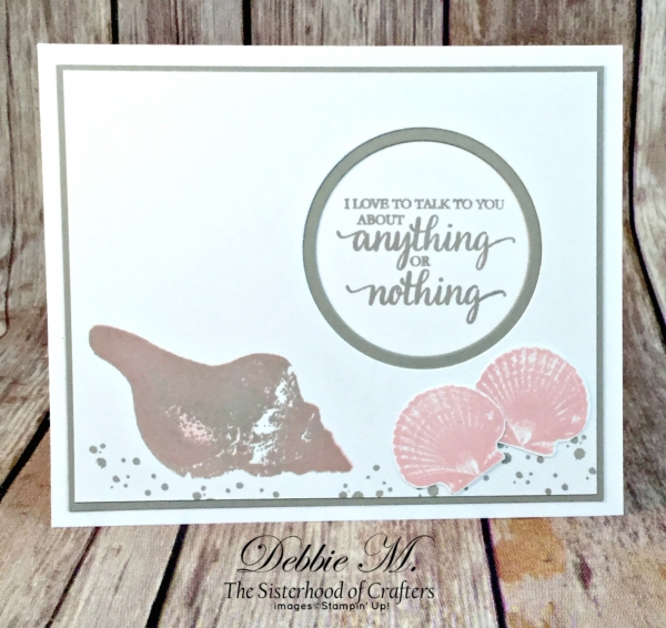 By Debbie Mageed, So Many Shells, Timeless Textures, Friendship, CAS, Stampin Up