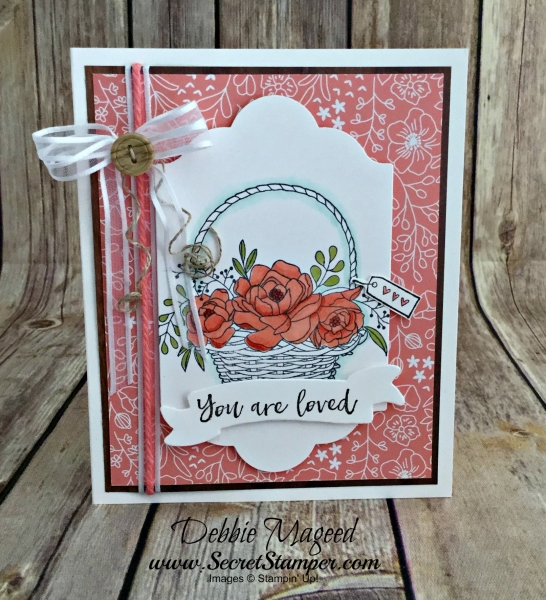 Pretty Spring Basket Card Featuring #BlossomingBasket, #AllOccasion, #SecretsToStamping, #StampinUp