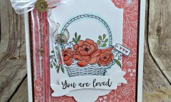 Pretty Spring Basket Card Featuring #BlossomingBasket, #SoManyShells, #AllOccasion, #SecretsToStamping, #StampinUp