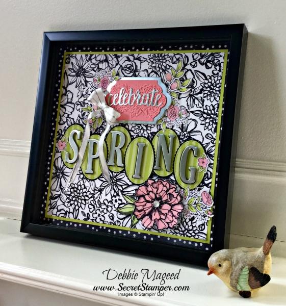 Pretty Spring Frame for Home Decor, featuring #PetalPassion, #TuttiFruttiCards, #Frame, #HomeDecor, #SecretStamper, #SAB, #StampinUp,