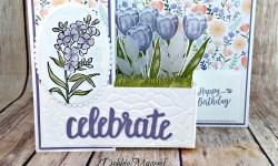 Z Fold Card featuring #TranquilTulips, #SouthernSerenade, #Birthday, #DelightfulDaisy, #StampinUp, #SecretStamper