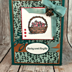 A Basket of Wishes Sharing Sweet Thoughts with Hand Stamped Sentiments