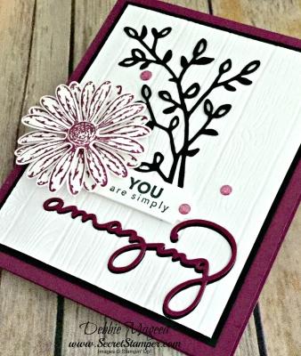 Pretty Thank You Card Featuring #DaisyDelight, #AmazingYou, #CelebrateYou, #SecretsToStamping, #StampinUp