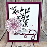 Pretty Thank You Card Featuring #DaisyDelight, #AmazingYou, #CelebrateYou, #SecretsToStamping, #StampinUp