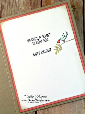 Lovely Birthday Card Featuring #FriendshipsSweetestThoughts, #BirdBanter, #SecretsToStamping, #StampinUp
