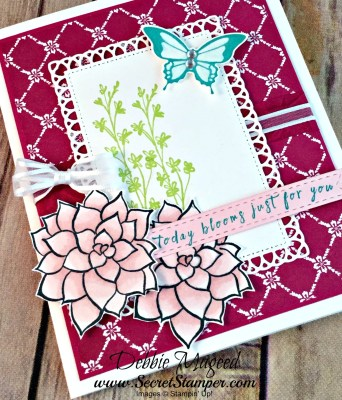 Lovely Floral Birthday Card Featuring #NaturesPerfection, #PerennialBirthday, #SecretsToStamping, #StampinUp