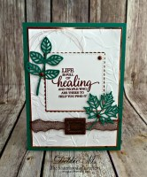 So Many Shells Make a Lovely Leaves Card for the Sisterhood of Crafters