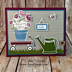 Sweet Spring Card Featuring #GrownWithLove, #AwsomelyArtistic, #AllOccasion, #Friendship, #SecretsToStamping, #StampinUp
