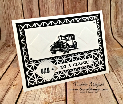 Classic Masculine Card Featuring #GuyGreetings, #FathersDay, #Masculine, #SecretsToStamping, #StampinUp