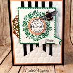 Hello Friend's Farewell with Flourishing Phrases with Hand Stamped Sentiments