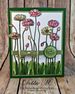 Pleasant Poppies and Wood Words Love Touches of Texture for the Sisterhood of Crafters
