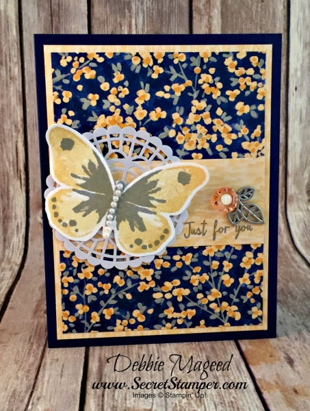 Beautiful Spring Card Featuring #WatercolorWings, #GardenImpressions, #AllOccasion, #Love, #SecretsToStamping, #StampinUp